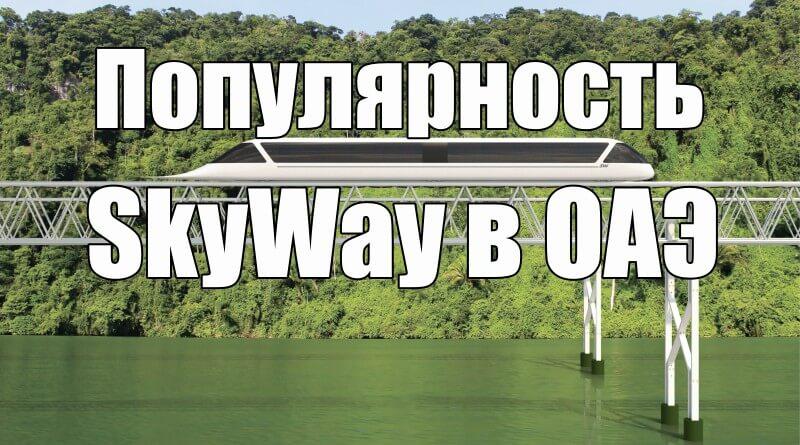 Популярность SkyWay в ОАЭ