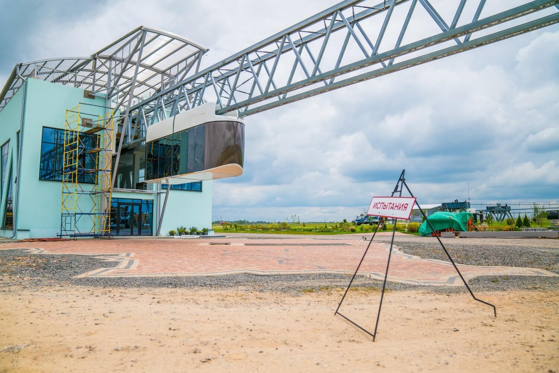 6. Начало ходовых испытаний бирельсового юнибуса на участке городского/высокоскоростного комплекса SkyWay