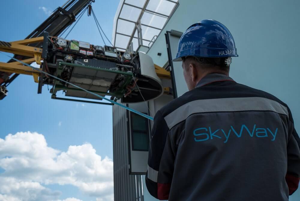 3. Установка тяговых модулей бирельсового юнибуса U-4-220 на путевую структуру городского/высокоскоростного комплекса SkyWay