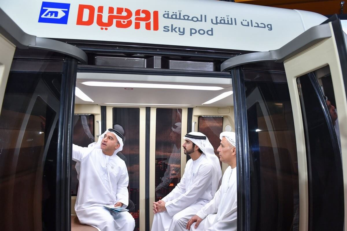 SkyWay Струнный транспорт Дубаи
